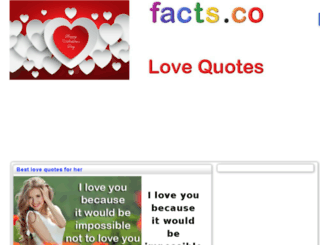 bestlovequotes.facts.co screenshot