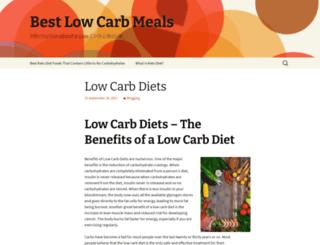 bestlowcarbs.com screenshot