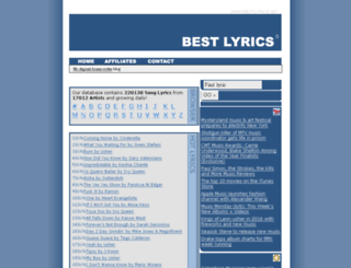 bestlyrics.net screenshot