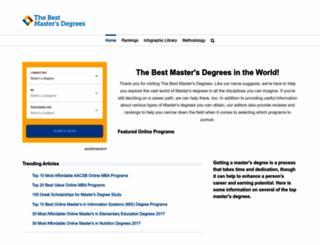 bestmastersdegrees.com screenshot
