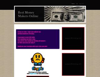 bestmoneymakersonline.yolasite.com screenshot