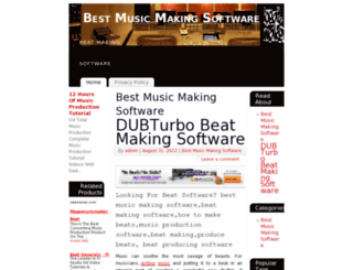 bestmusicmakingsoftware.org screenshot