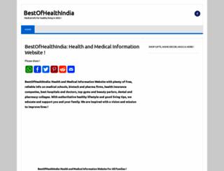 bestofhealthindia.com screenshot