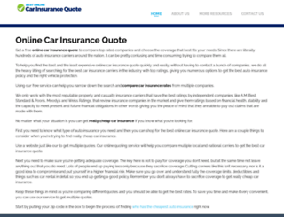 bestonlinecarinsurancequote.com screenshot