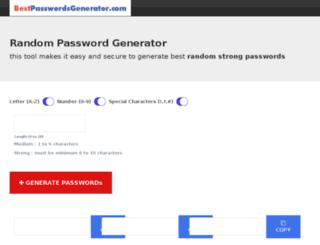 bestpasswordsgenerator.com screenshot