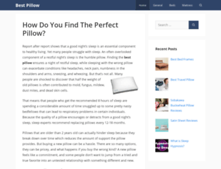 bestpillowguide.org screenshot