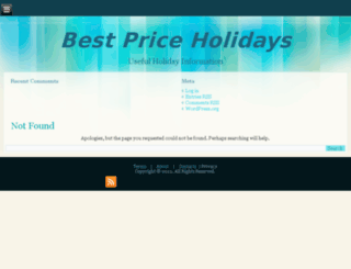 bestpriceholidays.net screenshot