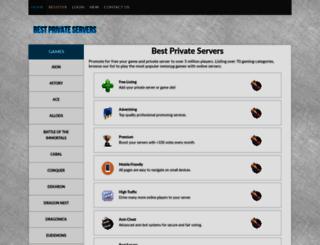 bestprivateservers.com screenshot