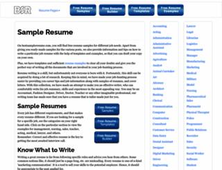 bestsampleresume.com screenshot