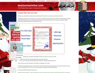 bestsantasletter.com screenshot