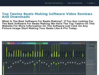 bestsoftwareformakingbeats.weebly.com screenshot