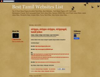 besttamilwebsiteslist.blogspot.in screenshot