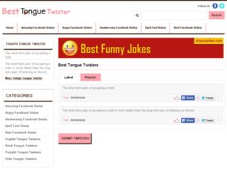 besttonguetwisters.com screenshot