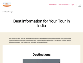 besttourpackages.com screenshot