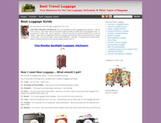 besttravelluggage.org screenshot