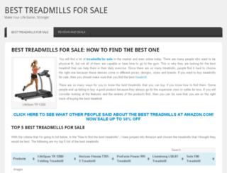 besttreadmillsforsale.org screenshot