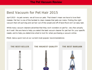 bestvacuumpethair.org screenshot