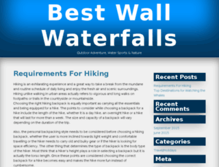 bestwallwaterfalls.com screenshot