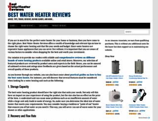bestwaterheaterreviews.org screenshot
