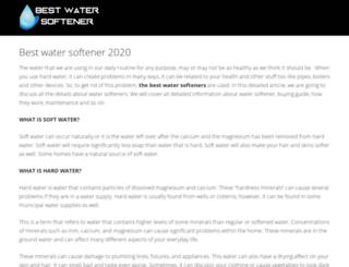 bestwatersoftener.net screenshot