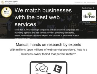 bestwebfirms.com screenshot