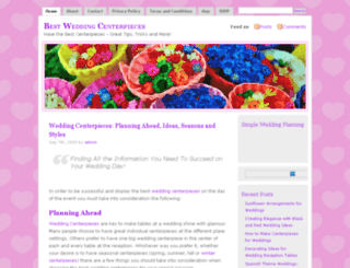 bestweddingcenterpieces.com screenshot