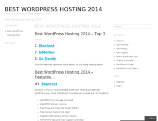 bestwordpresshosting2014hosting.wordpress.com screenshot