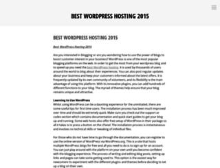 bestwordpresshosting2015.wordpress.com screenshot