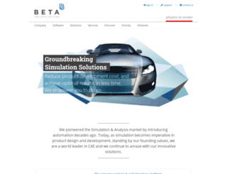 beta-cae.gr screenshot