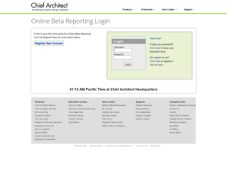 beta-reporting.chiefarchitect.com screenshot