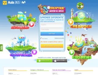beta.aula365.com screenshot
