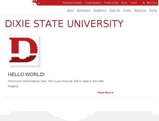 beta.dixie.edu screenshot