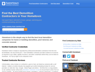 beta.hometowndemolitioncontractors.com screenshot