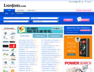 beta.lionjobs.com screenshot