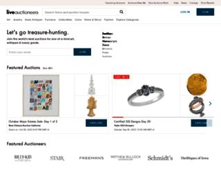 beta.liveauctioneers.com screenshot