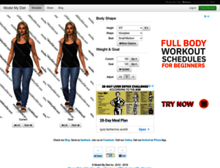 beta.modelmydiet.com screenshot