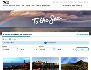 beta.poferries.com screenshot