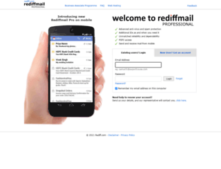 beta.rediffmailpro.com screenshot