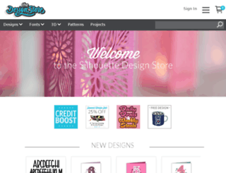 beta.silhouettedesignstore.com screenshot