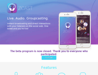 beta.zcast.co screenshot