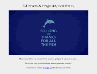 beta1.e-univers.org screenshot