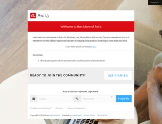 betacenter.avira.com screenshot