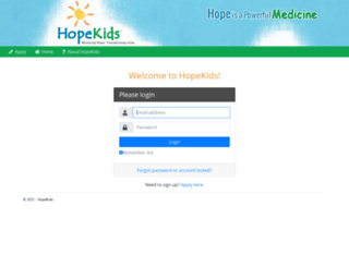 betacommunity.hopekids.org screenshot