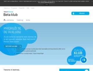 betaklub.telekom.si screenshot