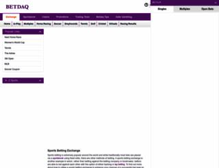 betdaq.com screenshot