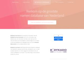 betekenis-voornaam.nl screenshot