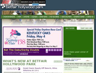 betfairhollywoodpark.com screenshot