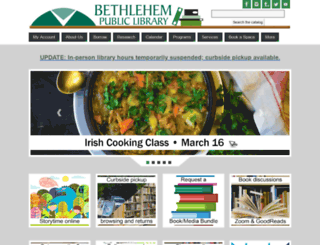 bethlehempubliclibrary.org screenshot