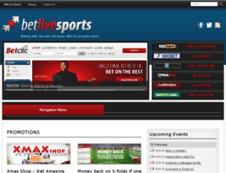 betlivesports.com screenshot
