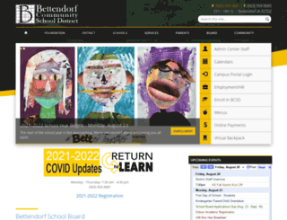 bettendorf.k12.ia.us screenshot